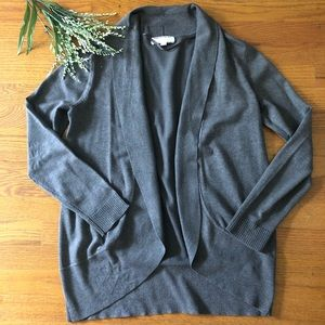 Open Front Gray Cardigan M